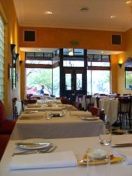 Silk's Brasserie - view across tables